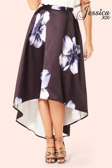Jessica Wright High Low Midi Skirt
