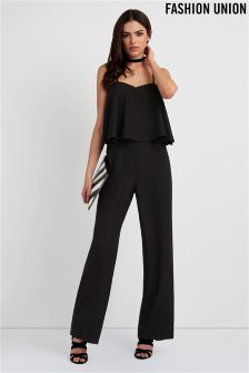 Fashion Union Layered Jumpsuit
