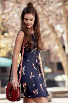 Mela Loves London Bird On A Feather Skater Dress
