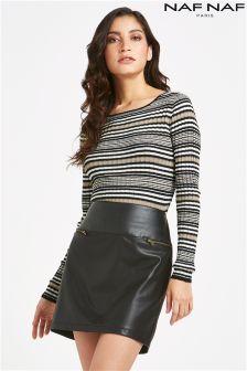 Naf Naf Two Tone Skirt