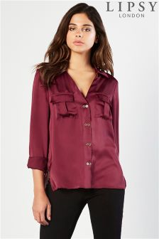Lipsy Double Button Satin Shirt