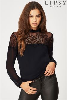 Lipsy Lace Sheer Top