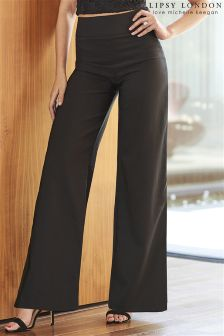 Lipsy Love Michelle Keegan High Waisted Wide Leg Trousers