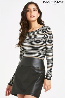 Naf Naf Stripe Long Sleeve Top