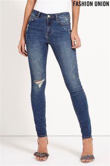 Fashion Union Rip Skinny Jeans