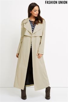Fashion Union Maxi Trench