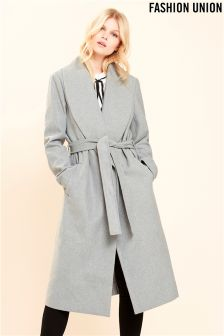 Fashion Union Wrap Coat