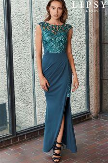 Lipsy Petal Sequin Detail Maxi Dress