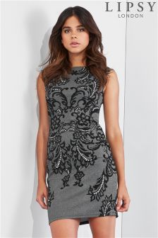 Lipsy Jacquard Knit Bodycon Dress