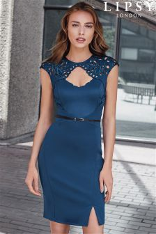 Lipsy Cutout Belted Boydcon Dress