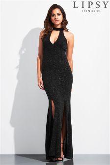 Lipsy Choker Split Side Maxi Dress