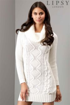 Lipsy Pearl Cable Tunic Dress