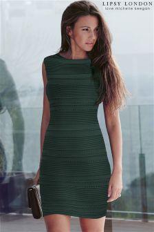 Lipsy Love Michelle Keegan Ripple Detail Bodycon Dress