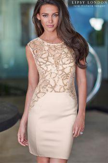 Lipsy Loves Michelle Keegan Sequin Swirl Midi Dress