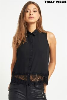 Tally Weijl Woven Lace Detail Blouse