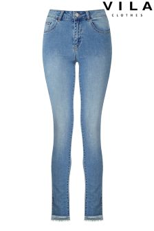 Vila Mid Wash Super Skinny Jeans