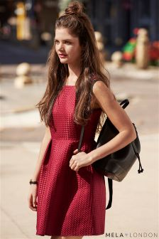 Mela Loves London Pleated Skater Dress