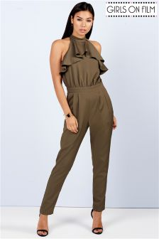 Girls On Film Ruffle Tailored Jumpsuit