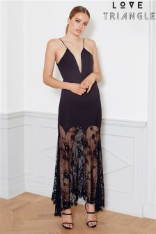 Love Triangle Cami Lace Maxi Dress