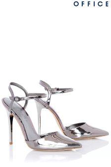 Office Metallic Mirror Pointed High Heels