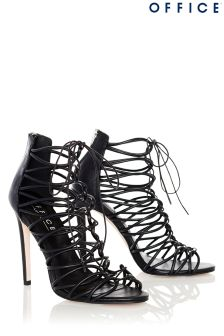 Office Lace Up Caged Heels