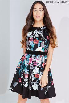 Little Mistress Bouquet Print Fit And Flare Dress