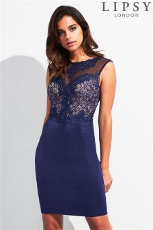 Lipsy Lace Trim Midi Dress