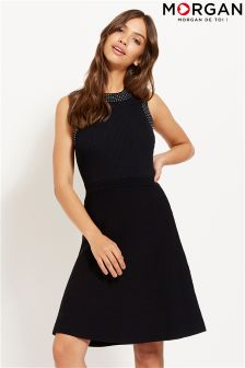Morgan Sleevless Knit Skater Dress