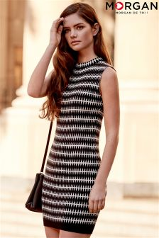 Morgan Monochrome Print Sleeveless Dress