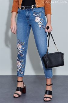 Anita & Green Embroidery Jeans