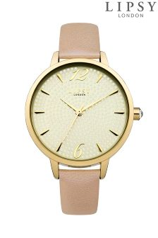 Lipsy Faux Leather Strap Watch