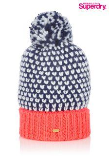 Superdry Pom Pom Spotted Beanie Hat