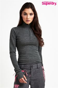 Superdry Base Layer Half Zip Top