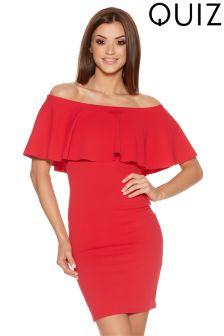 Quiz Frill Bardot Bodycon Dress