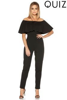 Quiz Bardot Straight Leg Jumpsuit