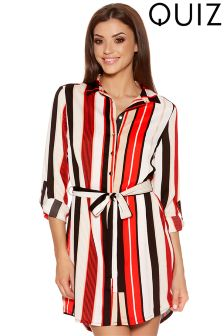 Quiz Stripe Shirt Dress