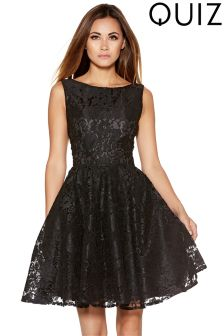 Quiz Lace Short Skater Dress