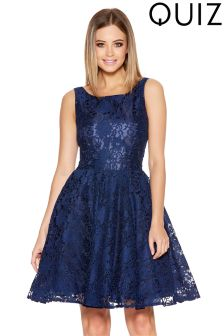 Quiz Lace Short Skater Dress