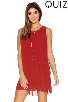 Quiz Front Tunic Dress