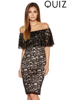 Quiz Lace Short Bardot Dress