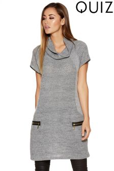 Quiz Knit Zip Tunic Dress