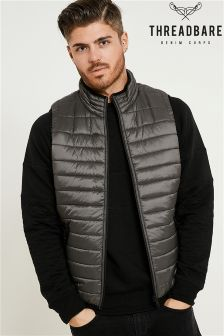 Threadbare Mens Hooded Quilted Gilet