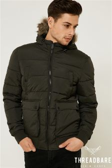 Threadbare Padded Puffer Jacket