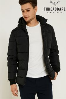 Threadbare Quilted Jacket With Hood