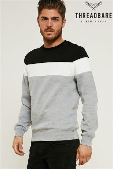 Threadbare Panelled Crew Sweater