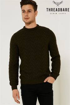 Threadbare Crew Textured Knit
