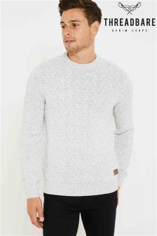 Threadbare Crew Textured Knit Jumper