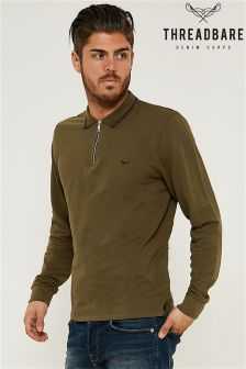 Threadbare Long Sleeve Polo Shirt