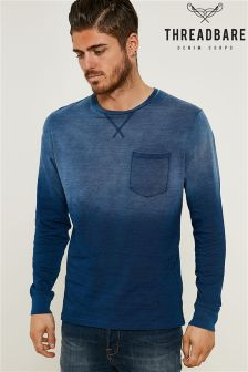 Threadbare Long Sleeve Dip Dye Tee