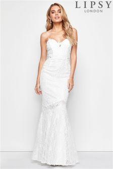 Lipsy Bridal Ava Lace Bandeau Maxi Dress